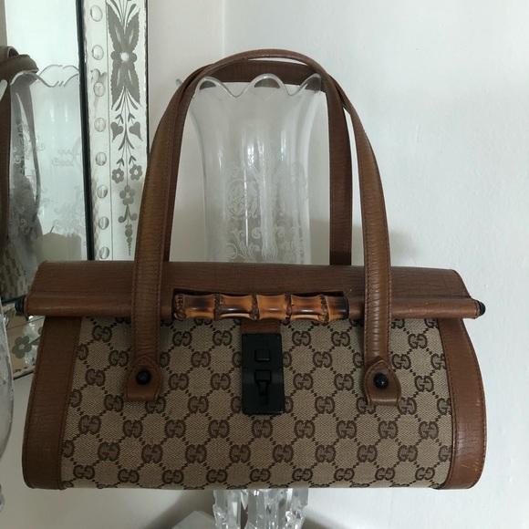 9b873bbba49 Gucci-Bamboo bullet large shoulder bag rare find‼️